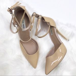 STEVE MADDEN POINTED TOE nude PUMPS size 9